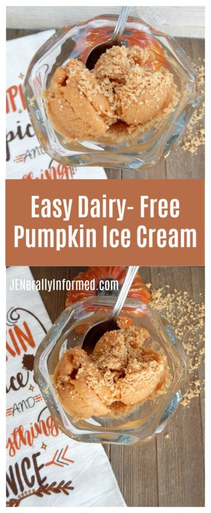 Simplify your holiday dessert making with this easy and delicious recipe for dairy-free pumpkin pie ice cream!