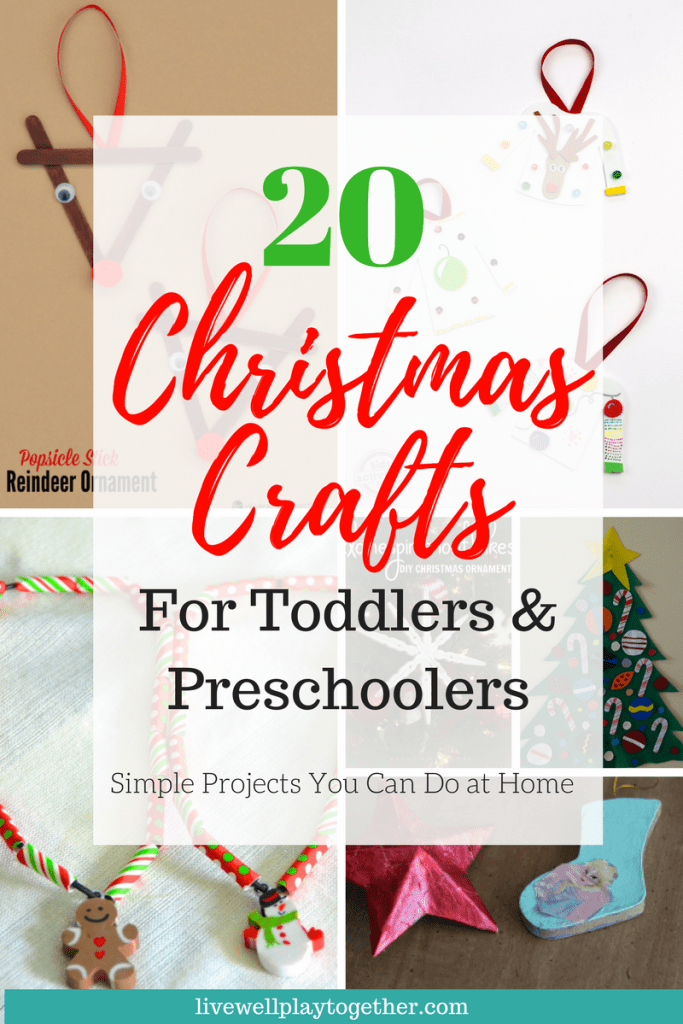 20 Christmas Crafts for Toddlers & Preschoolers from Live Well Play Together.