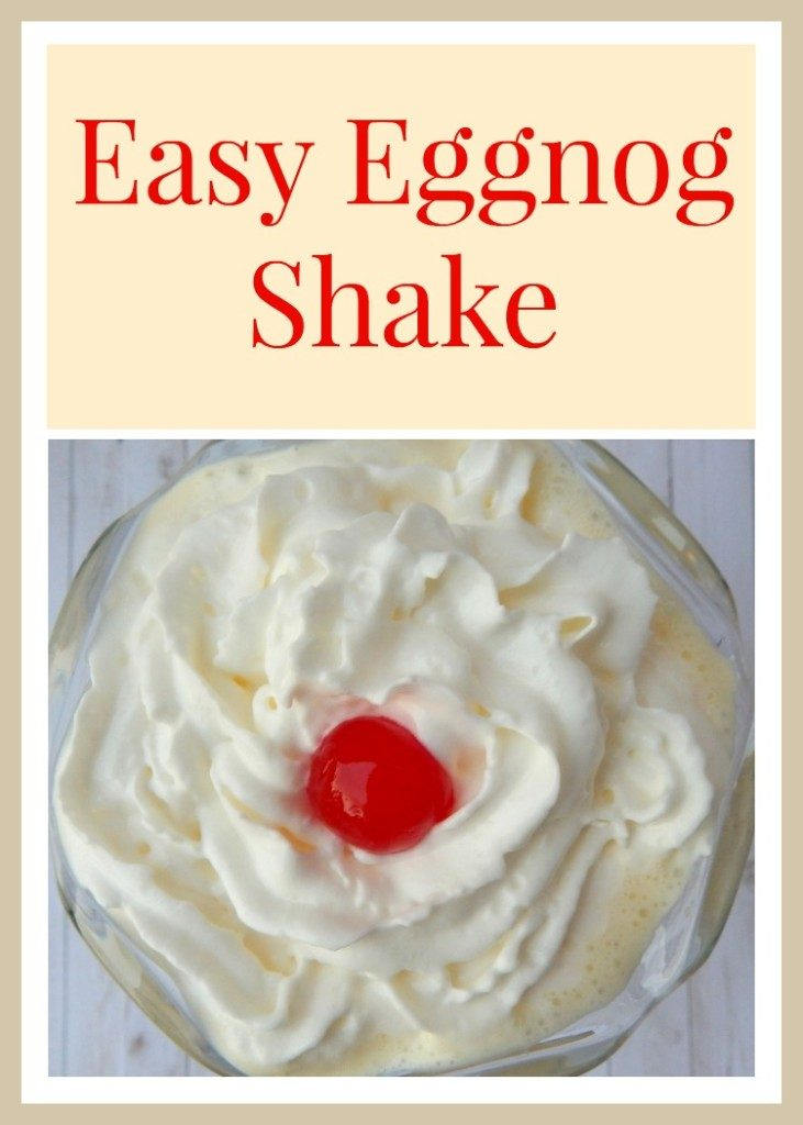 The easiset eggnoog shake recipe ever! Made with only 4 ingreidnets and in less than 2 minutes!
