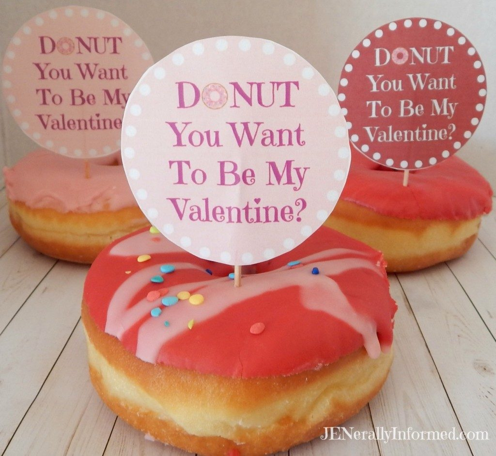 Donut Valentine's Day Printable Tags For Everyone!
