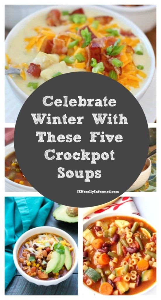 Five crockpot soups that will make you happy it's winter!