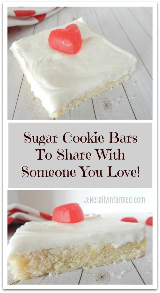 Share these delicious sugar cookie bars with someone you love!