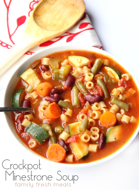 The Best Crockpot Minestrone Soup!