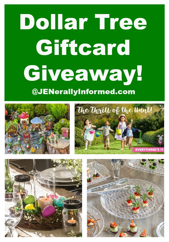 Value seekers get ready! Visit JENerally Informed to enter for your chance to win a Dollar Tree giftcard!