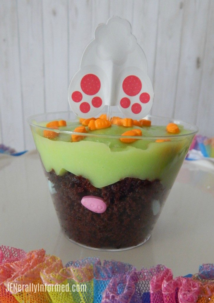 Here's how to make your own delicious Easter egg hunt in a cup treat!