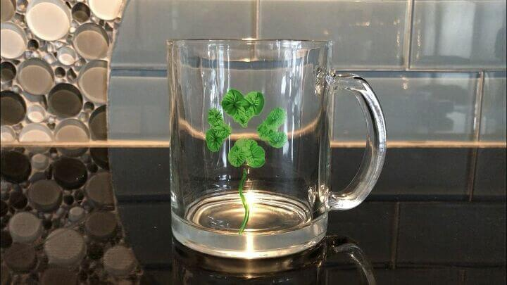 Fingerprint St. Patrick's Day Mug from Chas Crazy Creations.