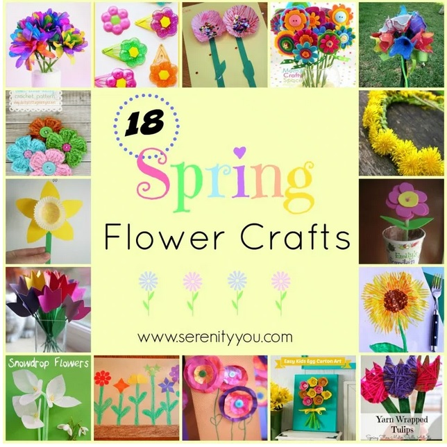 18 Spring Flower Crafts from Serenity You.