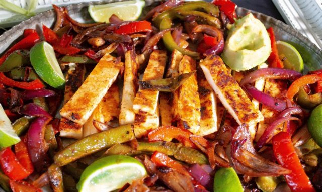 Halloumi Fajitas from the Bearded Hiker.