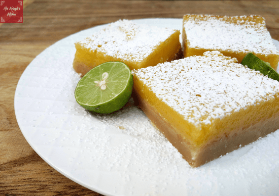 Key Lime Dessert Bars from Mrs. Kringle's Kitchen.