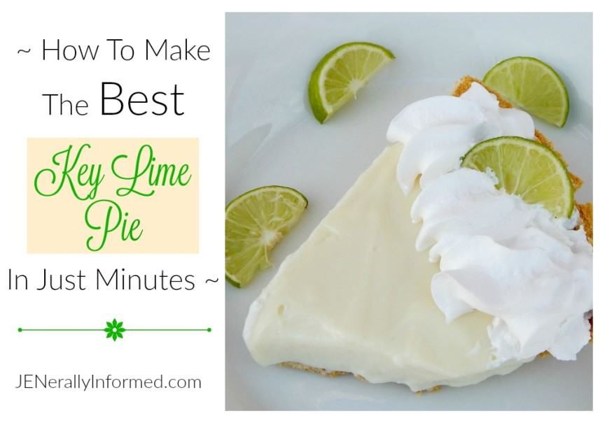 Make a perfect key lime pie in just a few minutes!