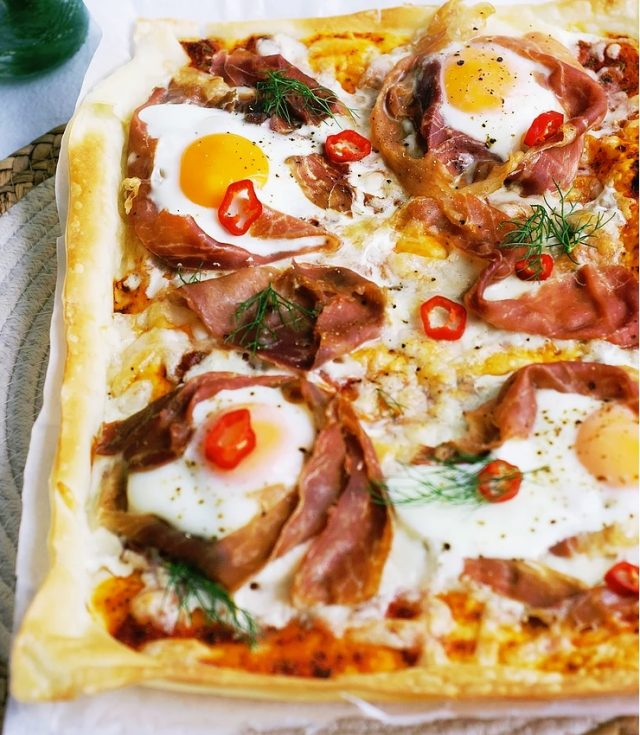 Egg, Prosciutto, And Mozzarella Tart from Cooking with Ewa.