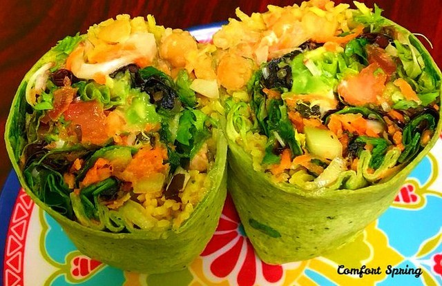 Spring Vegetable Wraps from Comfort Springs.