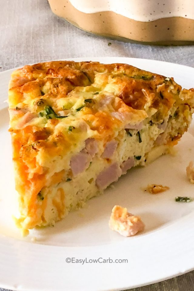 Crustless Ham and Cheese Quiche (Keto) from Holly.