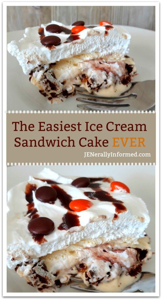 With only a few ingredients and in less than 10 minutes learn how to make the most amazing ice cream sandwich cake EVER!