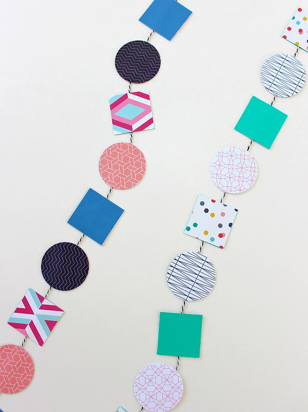 Geometric Garland from White House Crafts.