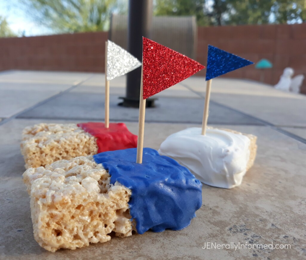 Red, White & Boom Rice Krispie Treats