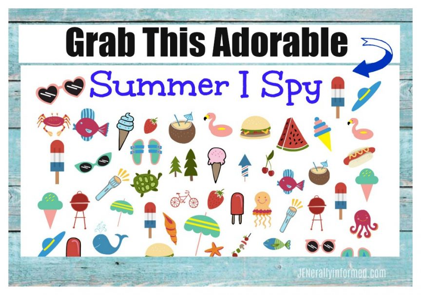 Grab a copy of this adorable #summer #ispy printable today!