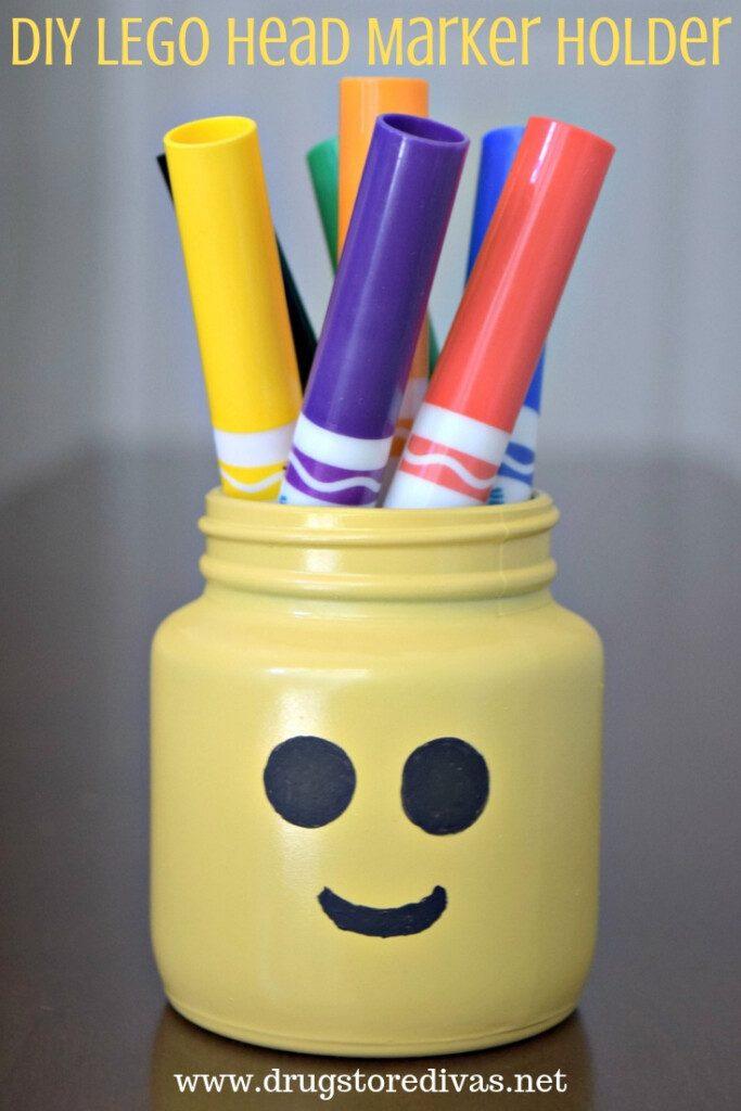 DIY LEGO Head Marker Holder from Drugstore Divas.