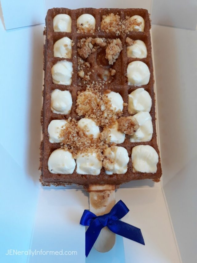 Enjoy a Paris traditon and take a bite out of a delicious waffle on a stick!