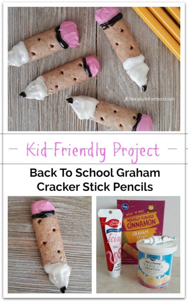 Kids can cook! Make your own #backtoschool Graham Cracker Stick Pencils.