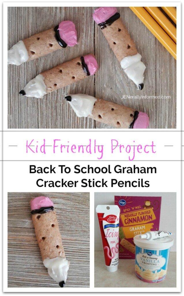 Kids can cook! Make your own #backtoschool Graham Cracker Stick Pencils.