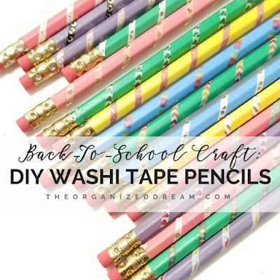 Back-To-School Craft: DIY Custom Washi Tape Pencils from The Organized Dream.