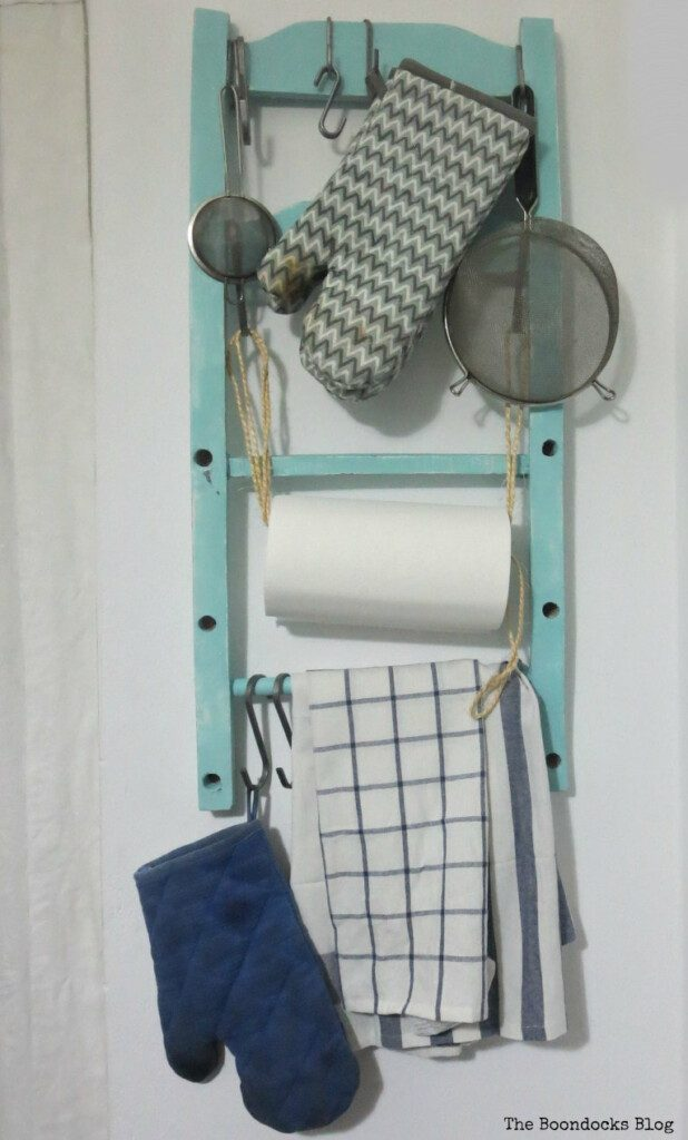 How to make a Cool Kitchen Organizer from a Chair from The Boondocks Blog.
