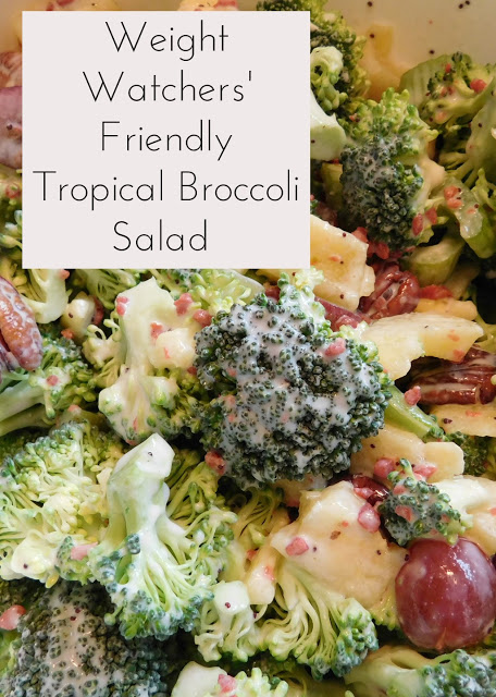 Weight Watchers Friendly Tropical Broccoli Salad from Our Unschooling Journey Through Life.