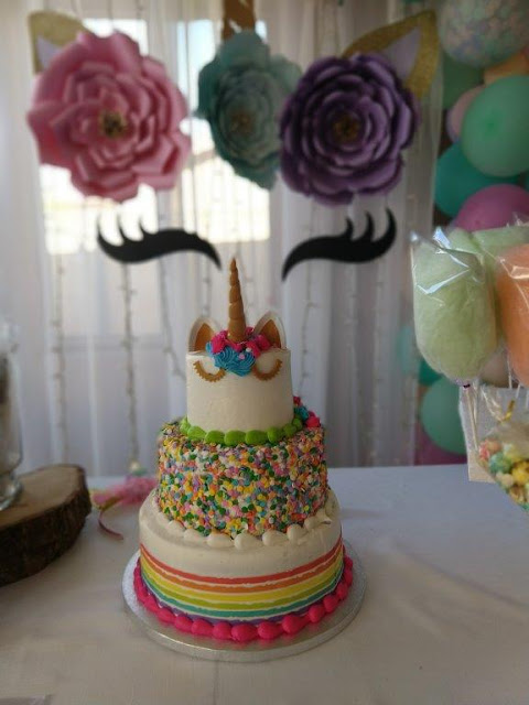 A Unicorn Birthday Party for a Special 3 Year Old from Clearwater Cottage.