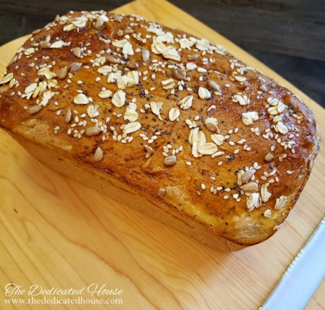 Amazing Recipe for Soft Seedy Sandwich Bread from the Dedicated House.