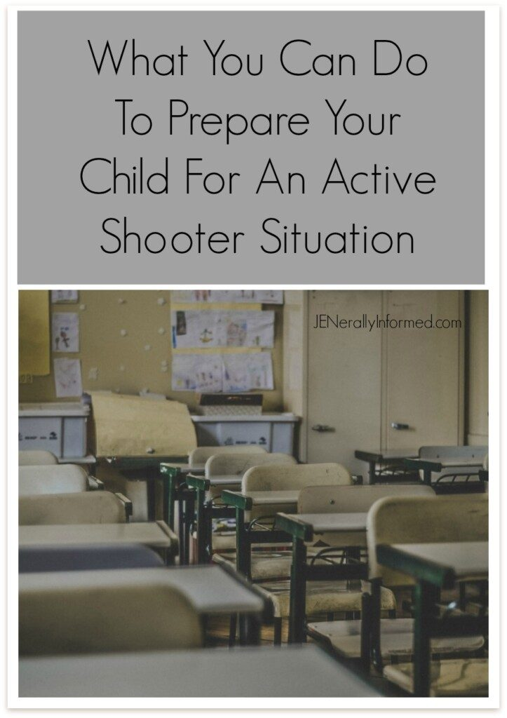 Here are some thought starters for conversations you can have at home. What You Can Do To Prepare Your Child For An Active Shooter Situation.