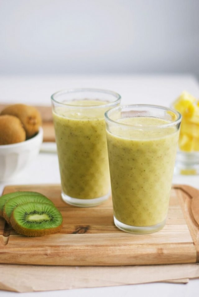 Pineapple Kiwi Smoothie from Cooking With Ewa.