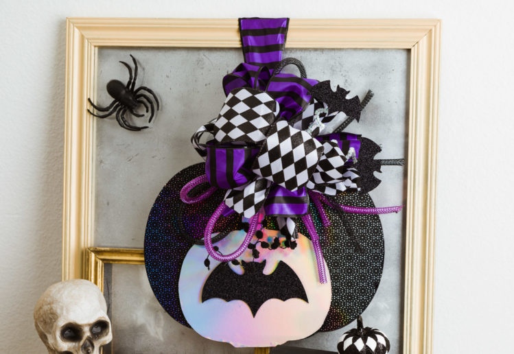 Easy Dollar Store Halloween & Holoween Pumpkin Door Hanger Decorating Ideas from Olivia OHern Graphic Design.