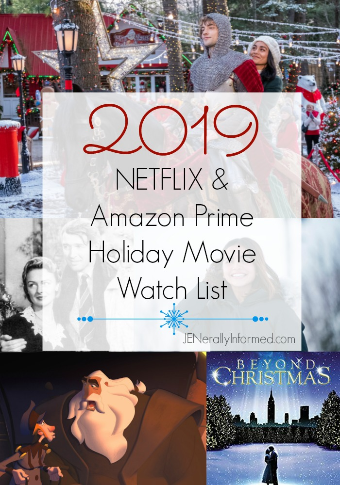 Here's what to watch! The 2019 #NETFLIX & #AmazonPrime #Holiday #movie watch list!