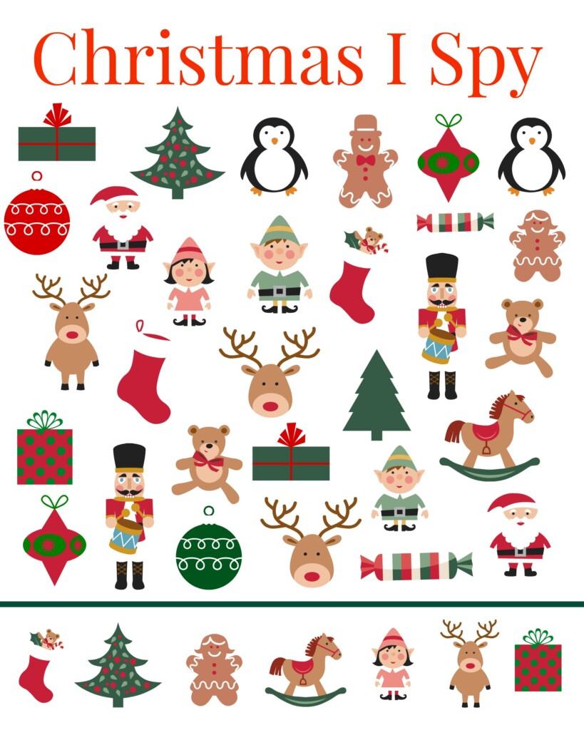 Grab this adorable #Christmas #ISpy for your kiddos today! #kidsactivities