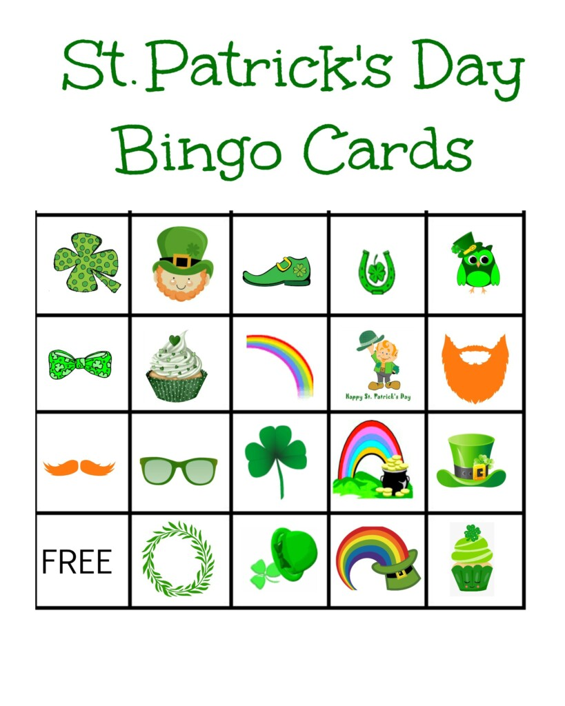 Free #StPatricksDay bingo card #printables! Don't miss out on the fun!