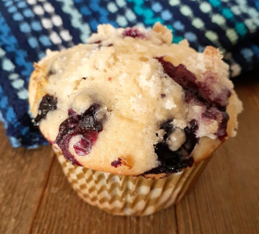Bursting with fresh lemon and bluberry flavor these muffins are a great addition to any day!