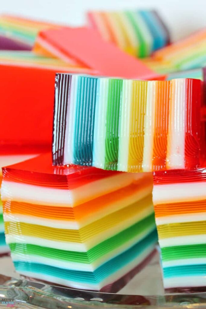 Rainbow Jello from Must Have Mom.