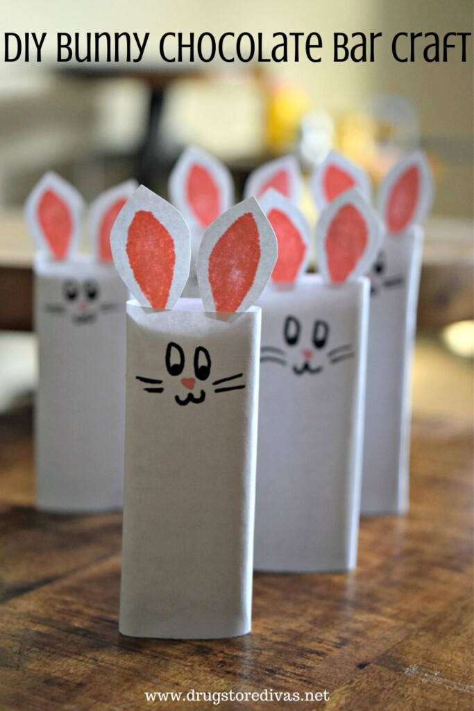 DIY Bunny Chocolate Bar Craft from Drugstore Divas.