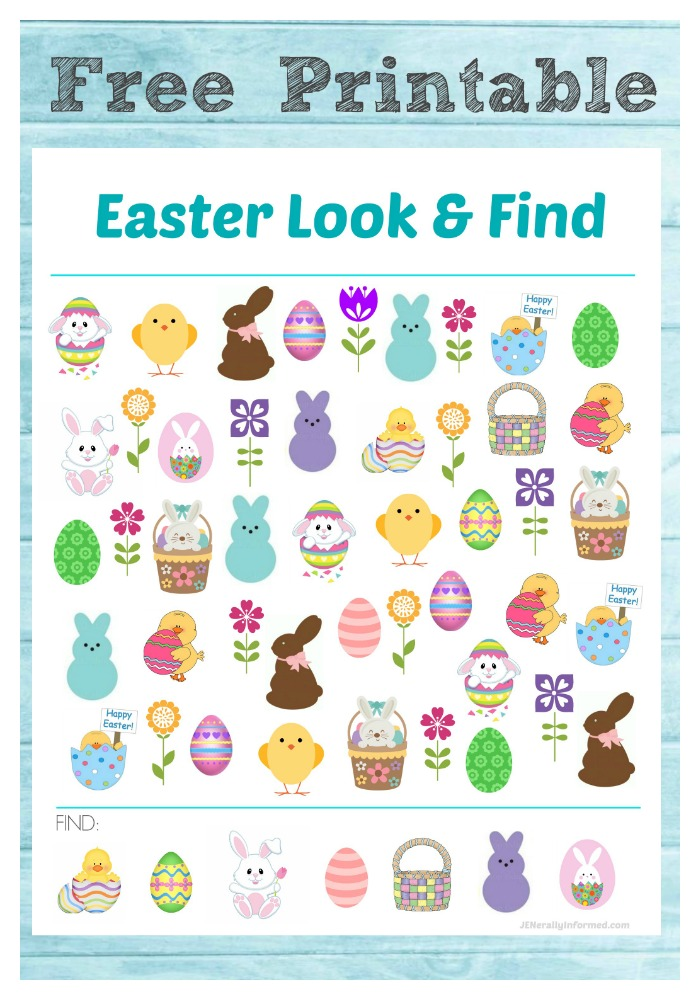 Looking for something fun to do with the kids this Easter? Grab this Free Easter printable look & find for your at-home celebrations!