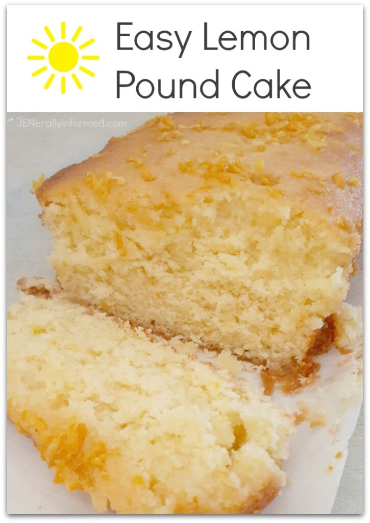 A delightfully fresh and sweet recipe for an easy lemon pound cake that is perfect for spring! #baking #cooking