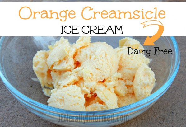 Orange creamsicle ice cream made with real oranges! Try the dairy-free option for this recipe as well.