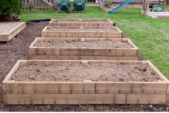 How To Build A Raised Garden Bed from Petals, Pies and Otherwise.