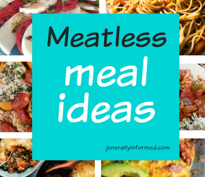 Eat less meat! A delicious roundup of meatless meals #cooking #meatlessmeals #vegetarian #whatsfordinner