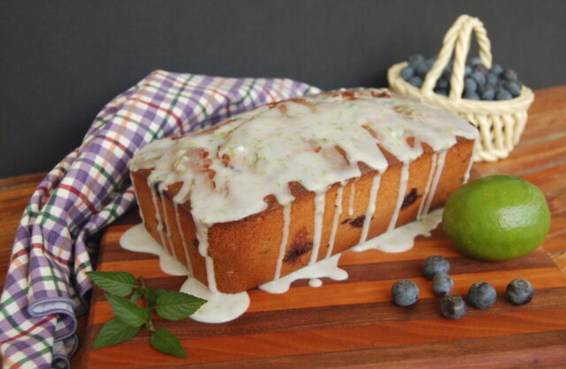 Glazed Blueberry Lime Loaf from Little Frugal Homestead.