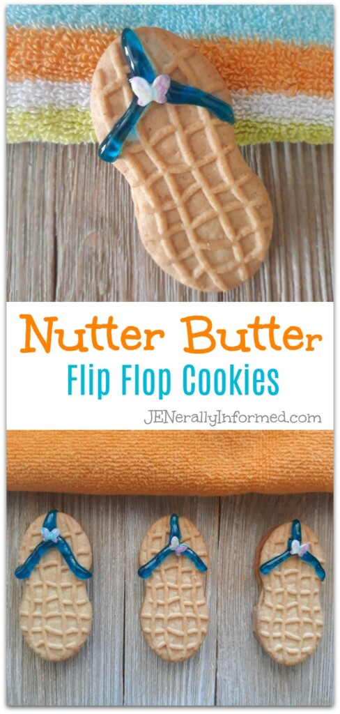Here's how to make the easiest Nutter Butter Flip Flop Cookies ever! #desserts #summer