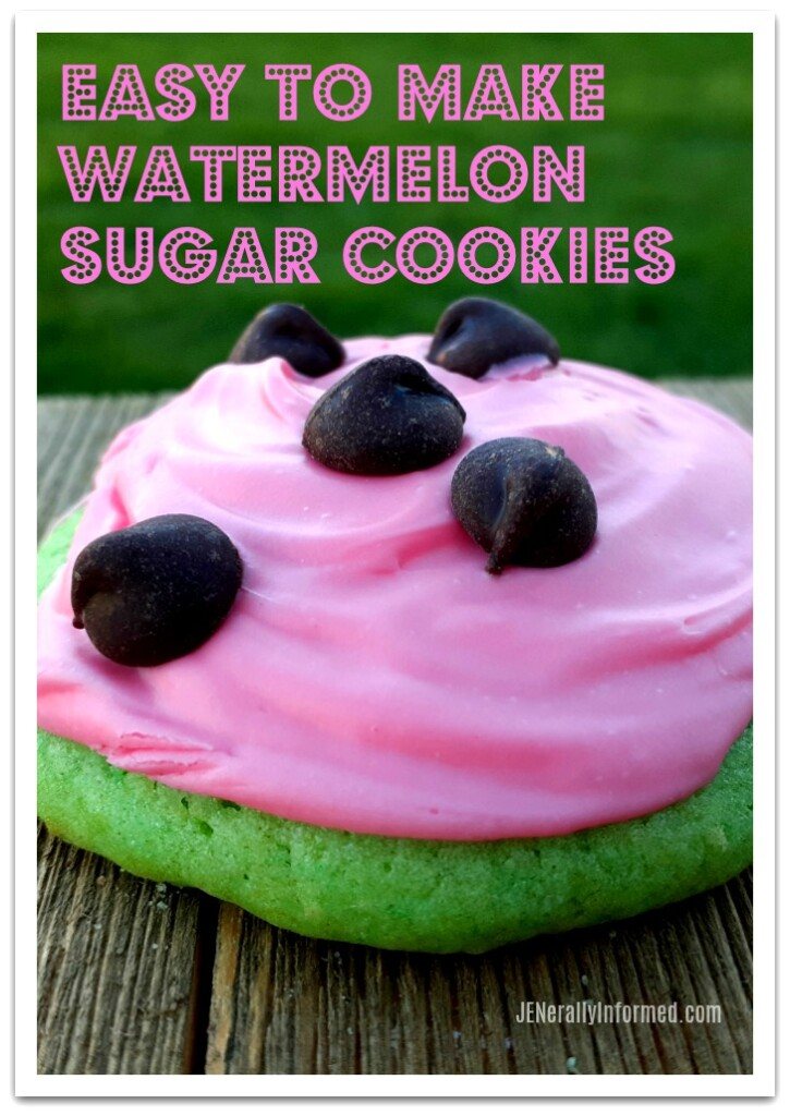 Easy to make watermelon sugar cookies! The sugar cookie dough recipe is the secret for making these delicious summer inspired treats.