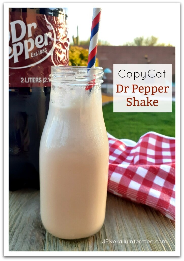 Cool, creamy and delicious with only 2 ingredients! Try making this delicious Dr Pepper copycat shake recipe and make it the best summer ever!