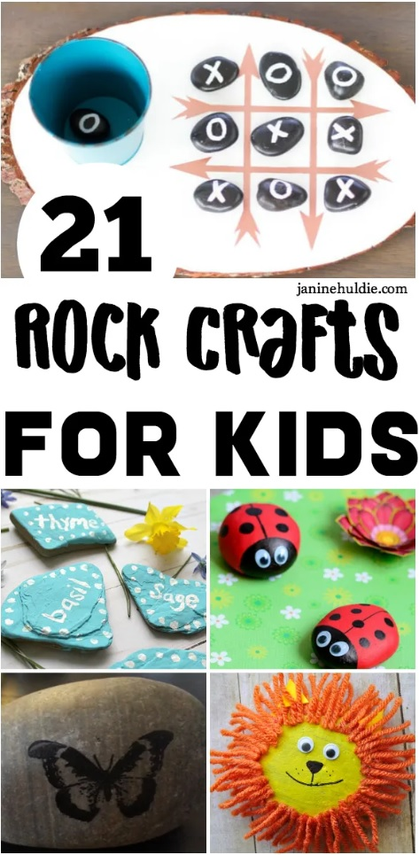 21 Fun Rock Crafts for Kids from This Mom's Confessions.