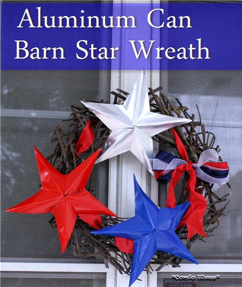 Aluminum Can Barn Star Wreath from Condo Blues.